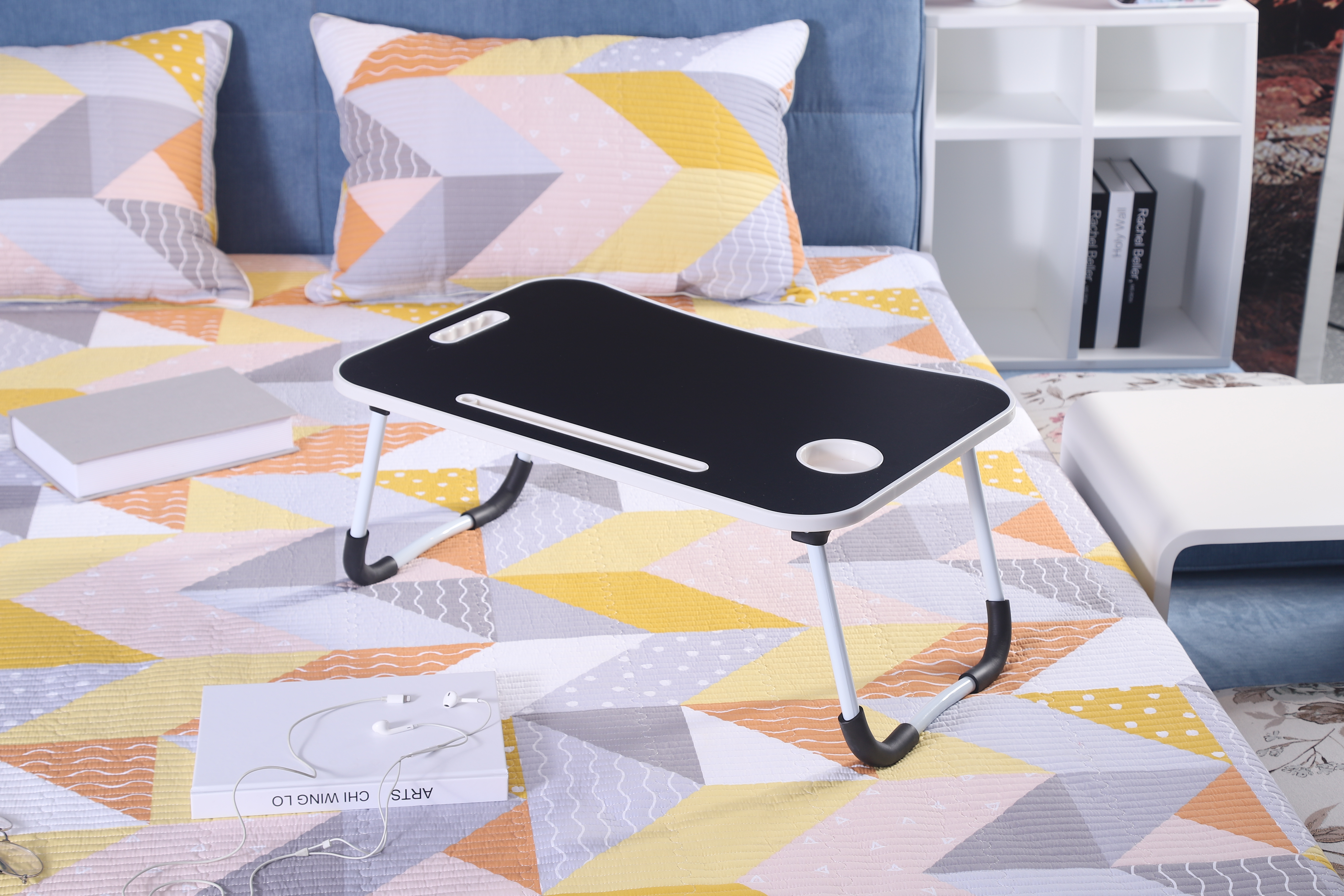 Multipurpose cheap foldable bed Portable folding laptop table for home